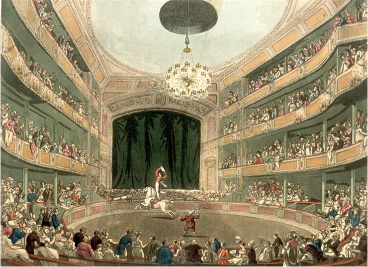 Picture Of Astley S Amphitheatre In London 1808