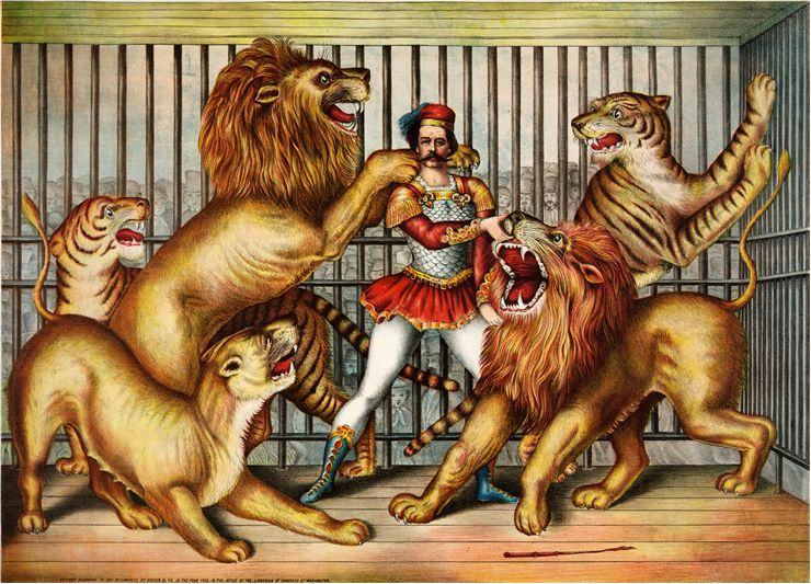 Picture Of Circus Lion Tamer