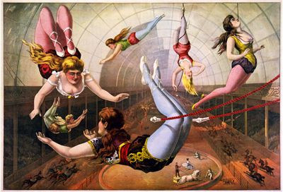 Picture Of Circus Trapeze Artists