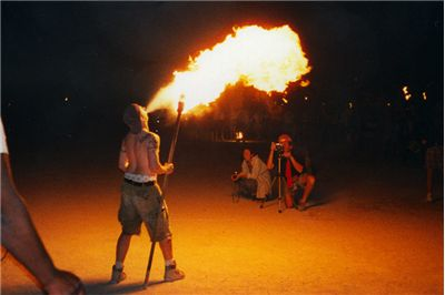 Picture Of Fire Breathers In Circus