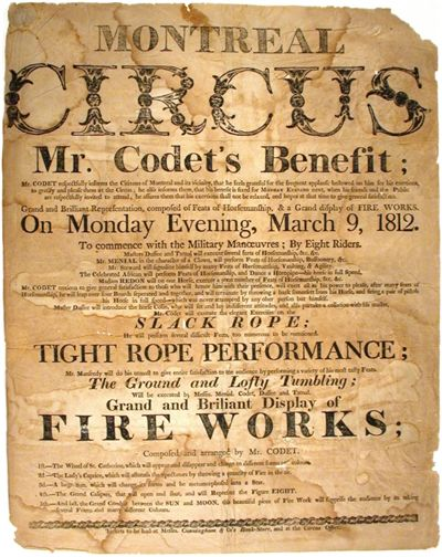 Picture Of Poster For Circus Montreal 1812