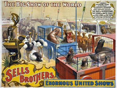 Picture Of Sells Brothers Circus 1880