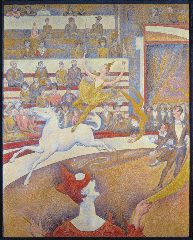 Picture Of The Circus By Georges Seurat 1891