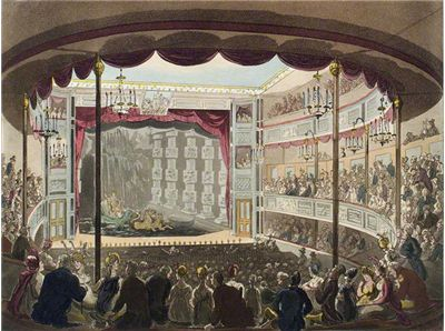 Picture Of The Interior Of Sadler S Wells Theatre 1809